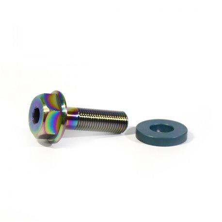 Титановые болты для втулки Armour Bikes Go Grind 10 mm 24tpi Oil Slick (нефтяное, масляное)