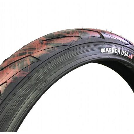 Покрышка BMX KENCH Iron-красный черный с красный